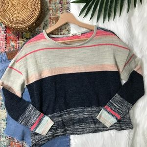 Anthro • Striped Lightweight Sweater